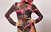 Женский боди Nibber Ererra с длинными рукавами, эластичный, модный, базовый, сетчатый многоцветный, фото 6