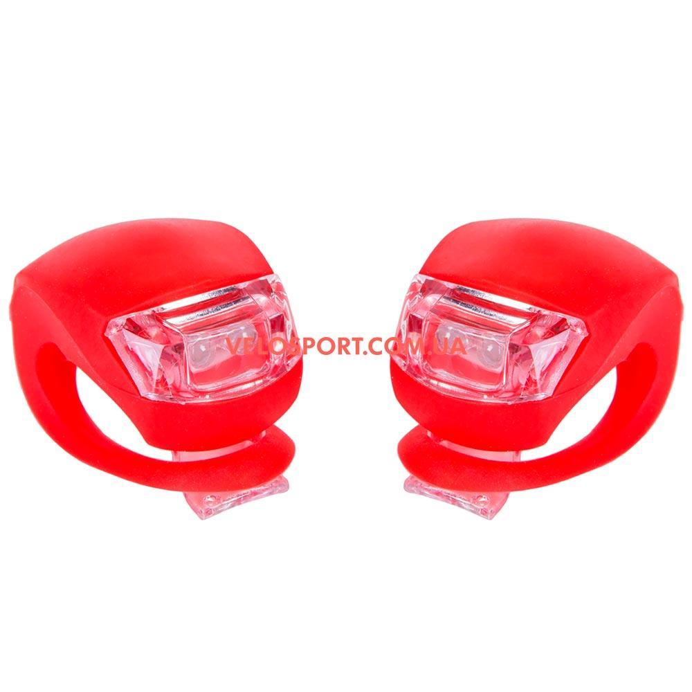 Комплект освітлення на велосипед BC-RL8001 червоний