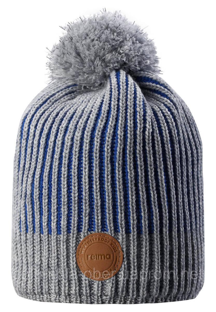 Зимняя шапка-бини для мальчика Reima Bulo 538076-6500. Размеры 48/50, 52/54 и 56/58.
