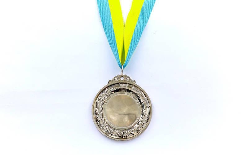 Заготовка медали спортивной с лентой HIT d-6см (металл, 30g, 1-золото, 2-серебро, 3-бронза) Серебряный PZ-C-3218_1