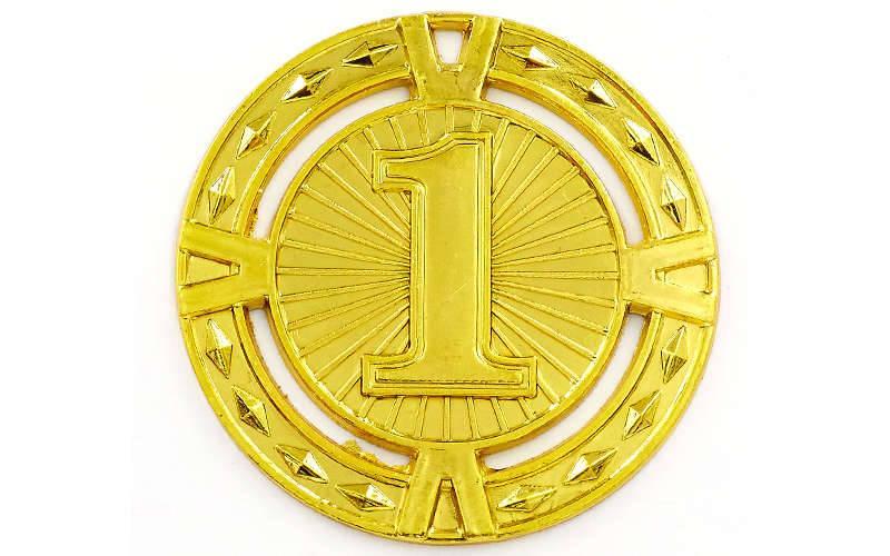 Медаль спортивная без ленты RAY d-6,5см (металл, d-6,5см, 38g 1-золото, 2-серебро, 3-бронза) Золотой PZ-C-6409_1