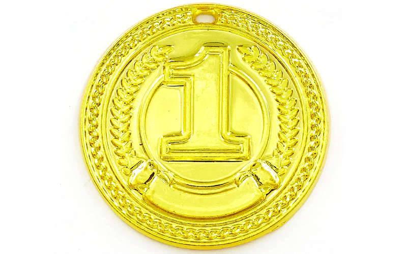 Медаль спортивная без ленты CELEBRITY d-4,5см (металл, d-4,5см, 20g 1-золото, 2-серебро, 3-бронза) Золотой PZ-C-6408_1