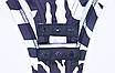 Женский боди Hugcitar Lilu с длинными рукавами, с высоким воротом, с принтом под зебру клубный, black, фото 7