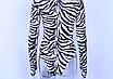 Женский боди Hugcitar Lilu с длинными рукавами, с высоким воротом, с принтом под зебру клубный, black, фото 9