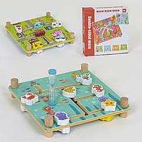 Деревянная детская игра лабиринт с песочными часами 40004
