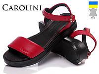 Босоножки женские Carolini. Натуральная кожа. Код: 101-52 красный