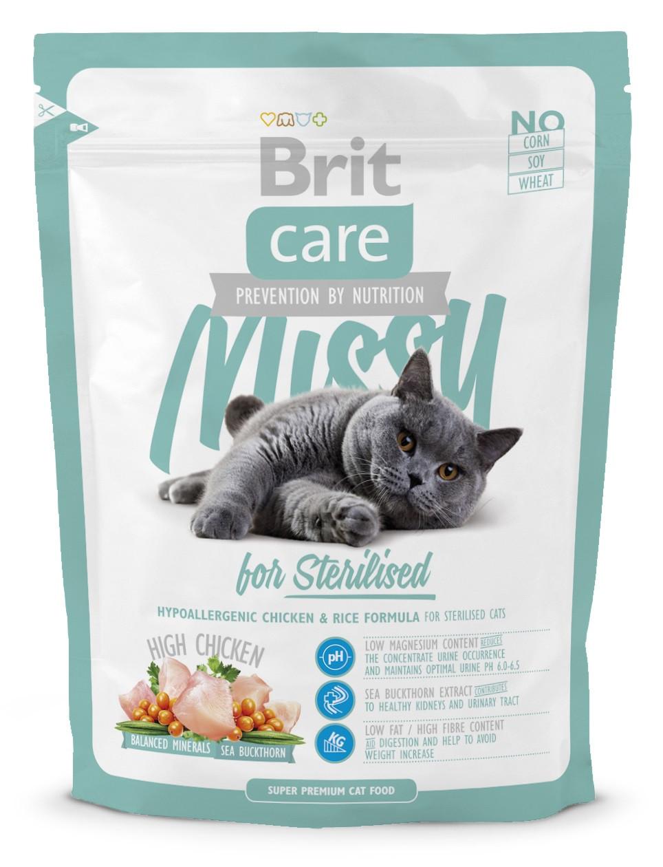 Сухой корм для кастрированных и стерилизованных кошек Brit Care Missy for Sterilised 400 г