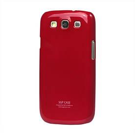 Чехол SGP Ultra Slim пластиковый на Samsung Galaxy S 3  III I9300, красный