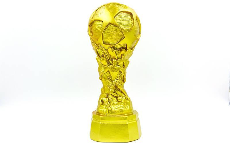 Статуэтка (фигурка) наградная спортивная Футбол Футбольный мяч золотой (11х16х28см) PZ-HX3786-A5