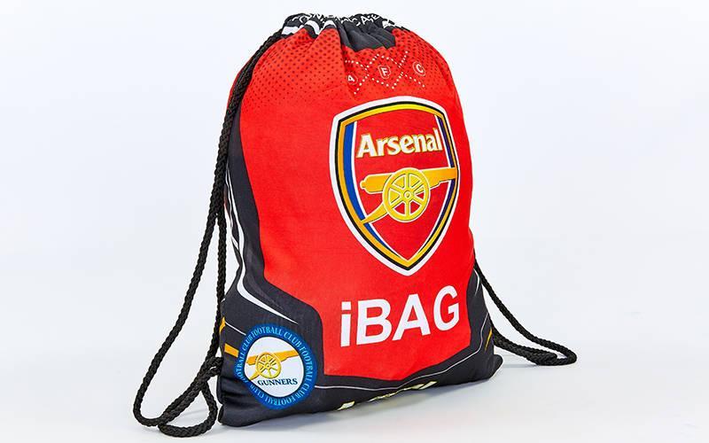 Рюкзак-мешок ARSENAL (нейлон, р-р 39х49см, красный-черный)
