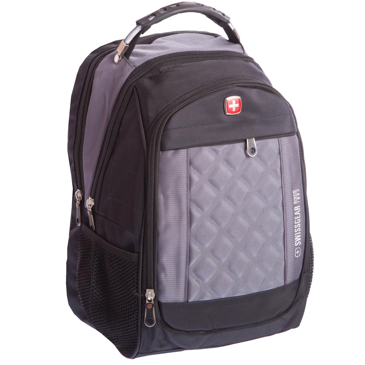 Рюкзак городской SwissGear 20л (PL, 17x28x39см, USB) Серый PZ-028_1