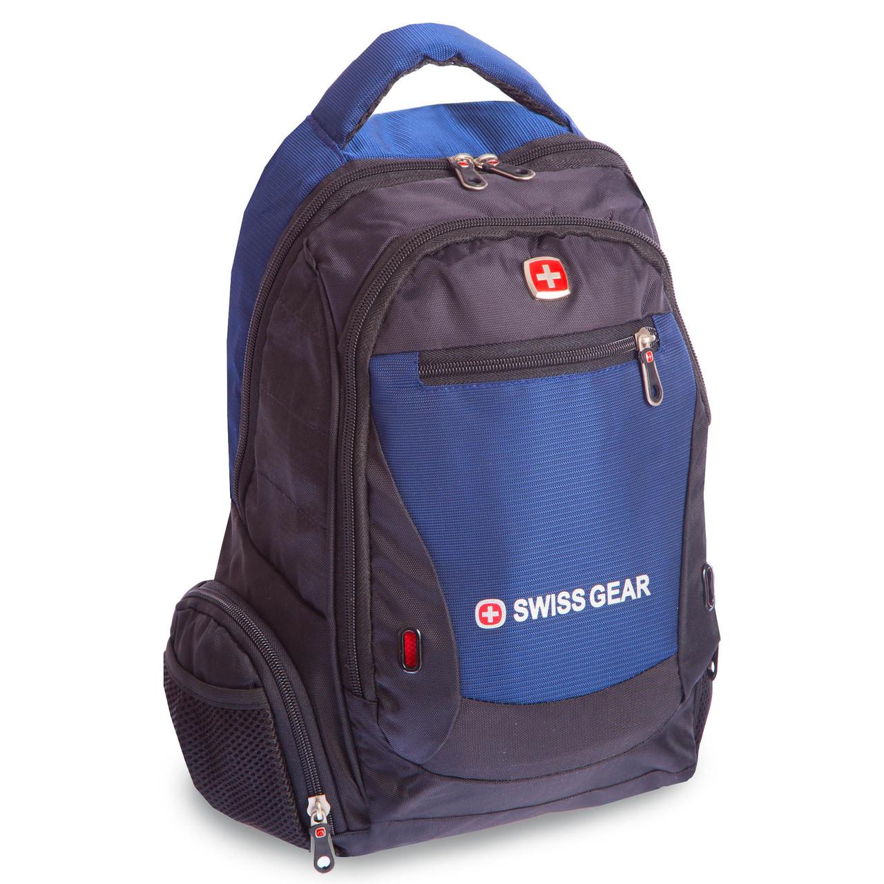 Рюкзак городской SwissGear 20л (PL, 16x30x39см, USB) Темно-синий PZ-A522_1