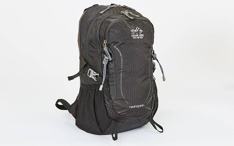 Рюкзак спортивный с жесткой спинкой Color Life V-25л (нейлон, 44,5х27х17,5см) Черный PZ-TY-1928_1