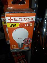 Світлодіодна Лампа 6W Е14 кулька 4200K Electrum Lb-12