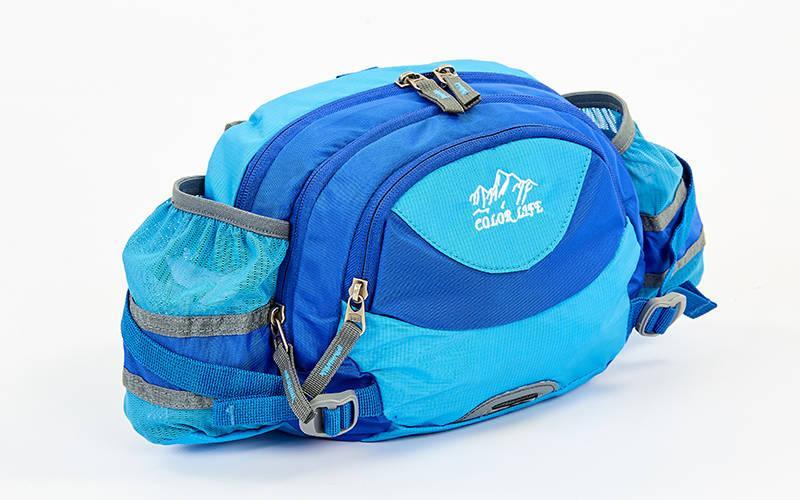 Сумка поясная WAIST BAG Color Life (нейлон, 28х18х9см) Голубой PZ-TY-5335_1