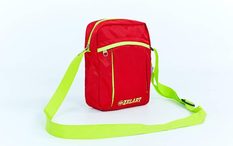 Сумка вертикальная маленькая через плечо 23х18х7,5см Zelart (полиэстер) Красный PZ-GA-5741_1