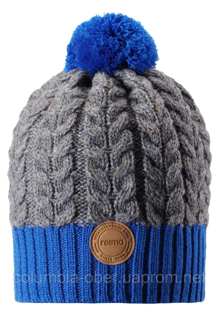 Зимняя шапка-бини для мальчика Reima Pohjola 538077-6501. Размеры 48/50 и 56/58.