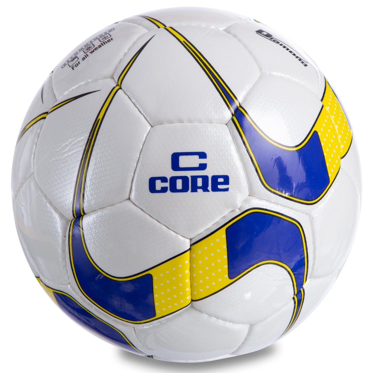 Мяч футбольный №5 PU ламин. CORE DIAMOND CR-024