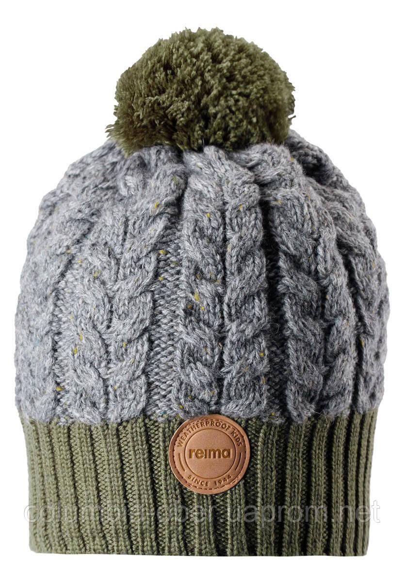 Зимняя шапка-бини для мальчика Reima Pohjola 538077-8930. Размеры 48/50 и 56/58.