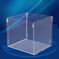 Прозрачная коробка для орехов 150x150x200 мм, объем 3,6 л.