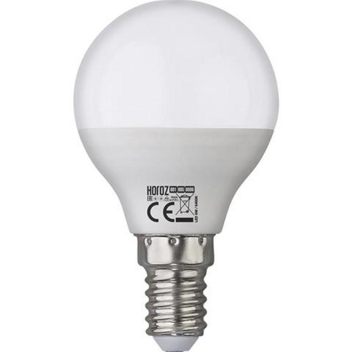 Светодиодная Лампа 8W Е14 шарик 6400K Horoz Elite-8