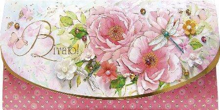 Упаковка поздравительных открыток ручной работы - Поздравляем Женские - 5шт Ассорти, фото 2