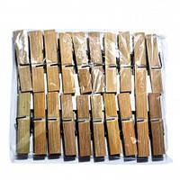 Прищепки бамбуковые в полиэтиленовой упаковке 20шт/пачка 25п/уп SMA
