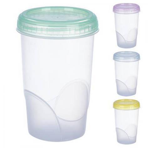 Контейнер пластиковый для пищевых продуктов 600мл круглый PT-83481 (120шт), фото 2