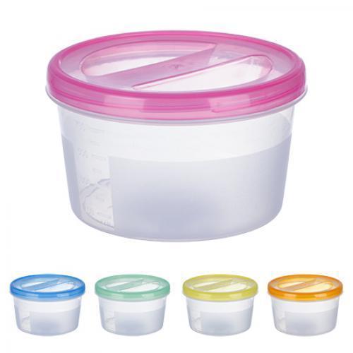 Контейнер пластиковый для пищевых продуктов 700мл круглый PT-83085 (60шт)