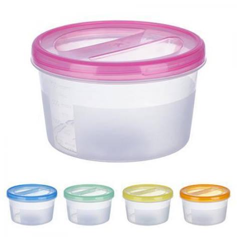 Контейнер пластиковый для пищевых продуктов 700мл круглый PT-83085 (60шт), фото 2