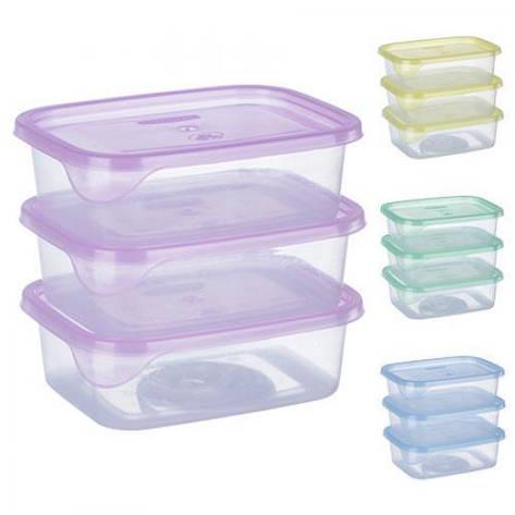 Набор контейнеров пластиковых для пищевых продуктов 3шт/наб 300мл PT-82729 (50шт), фото 2