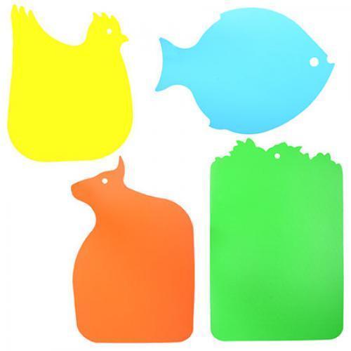 Доска разделочная пластик 4шт/наб 25*40см R82664 (100шт)