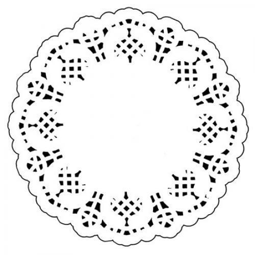 """Салфетки бумажные ажурные кондитер круг 12шт/уп 4.5"""" (11,5см) RD4512 (1152уп)"""