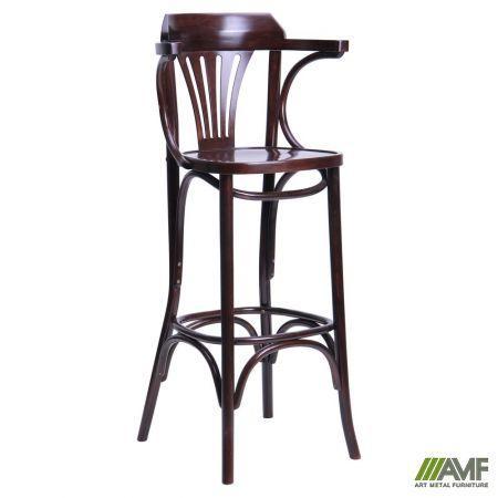 Барний стілець Ірландський Арм Хокер, масив бука, колір Горіх AMF