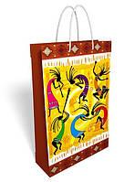 Пакет подарочный бумажный большой вертикальный 36.8*24.6*8.6см №31,027 СП