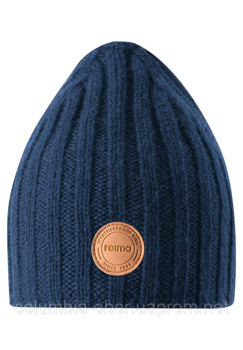 Зимняя шапка-бини для мальчика Reima Tuuhea 538079-6980. Размеры 48/50, 52/54 и 56/58.