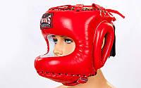 Шлем боксерский с бампером кожаный Twins ( M-XL) Красный M PZ-HGL-10_1