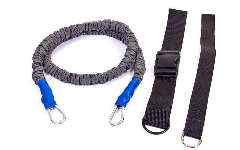 Поводок-амортизатор для силовых тренировок Random Direction Running (латекс, полиэстер, длина жгута-1,5м) PZ-FB-3018
