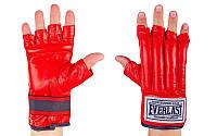 Снарядные перчатки шингарты кожаные Everlast (размер M-XL) Красный M PZ-VL-01044_1