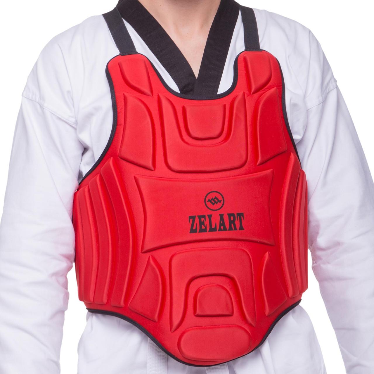Защита корпуса (жилет) для единоборств Zelart (EVA, нейлон, р-р XS-XL, цвета в ассортименте)