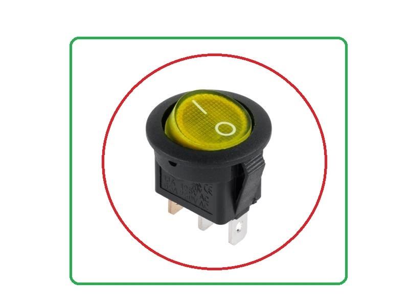 Вимикач з підсвічуванням 230В / 6А жовтий PRK0002E