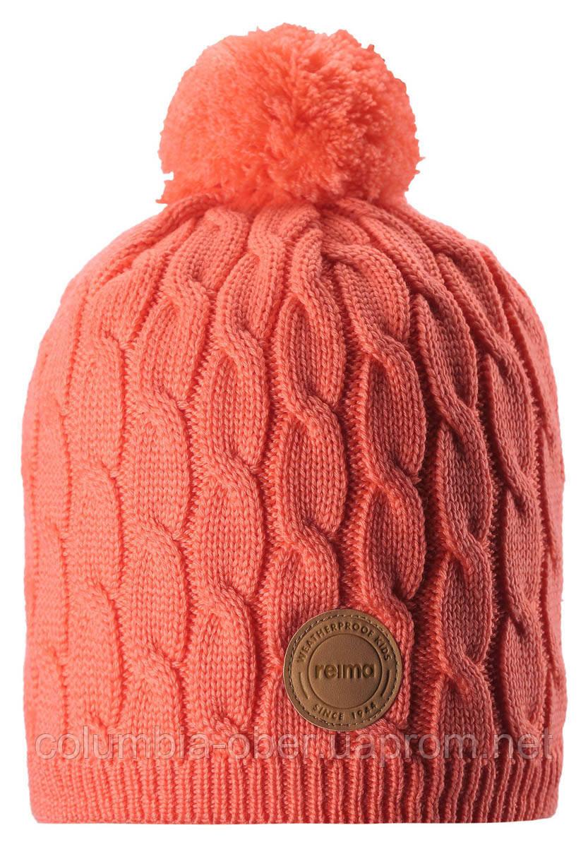 Зимняя шапка-бини для девочки Reima Spinn 538083-3220. Размеры 48/50, 52/54 и 56/58.