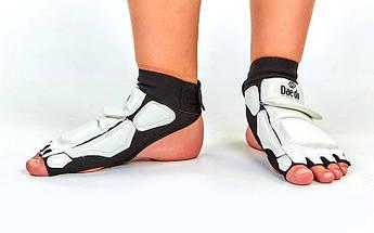 Защита стопы носки-футы для тхэквондо Daedo (PU, S(33-34) - L(37-38), l-19,5-24,5см, белый) PZ-BO-2609-W