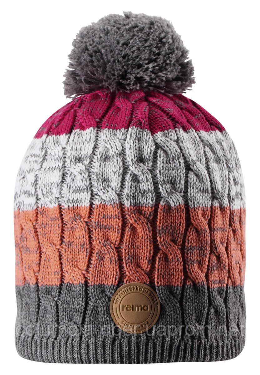 Зимняя шапка-бини для девочки Reima Spinn 538083-4651. Размеры 48/50, 52/54 и 56/58.