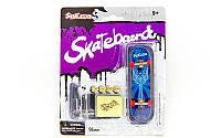 Фингерборд-мини скейт (1фингерборд, 4зап.колеса, 1ключ, 1отвер, 2гайки, наклейки, пластик, металл) PZ-SK-9908