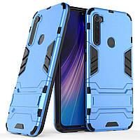Чохол Iron для Xiaomi Redmi Note 8 броньований бампер Blue
