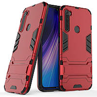 Чохол Iron для Xiaomi Redmi Note 8 броньований бампер Red