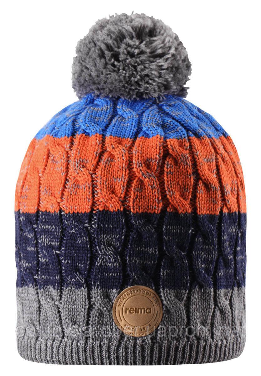 Зимняя шапка-бини для мальчика Reima Spinn 538083-6981. Размер 48/50.