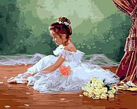 Раскраски по цифрам 40×50 см. Балеринка Художник Лиза Джейн