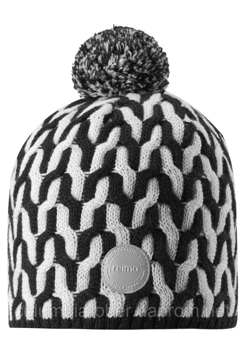 Зимняя шапка-бини для мальчика Reima Sneeuw 538085-9991. Размеры 48/50, 52/54 и 56/58.